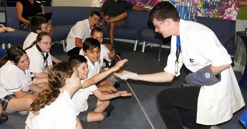 Science show at St Dominic's Centre